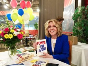 Linda Gannaway at the book launch for The Power of Life Lessons